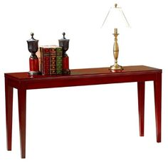 simple red console