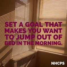 Set a #goal that makes you want to jump out of bed in the morning  #nurse #nurses #nursing #nursingschool #medicalschool #medschool #studentnurse #nursingstudent #nurselife #nurseslife #rn #ems #cna #medicalassistant #pa #school #inspo #inspiring #quote #motivation #dontgiveup