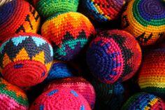 Colorful balls at a market in Guatemala