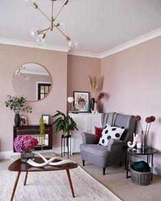 Light peach blossom - little greene paint company Bedroom Wall Paint Colors, Little Greene Paint, Painted Feature Wall, Pink Paint Colors, Peach Living Rooms, Bedroom Wall Paint, Peach Bedroom, Feature Wall Living Room, Paint Colors For Living Room
