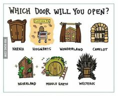 I would go to Hogwarts and narnia of course