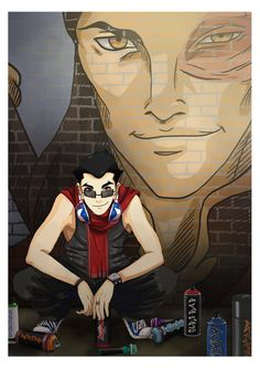 LOK: Graffiti 2 by *momofukuu on deviantART     Well at least Mako does one good thing in his life.