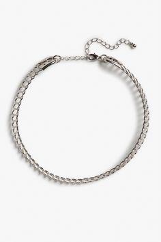 Monki Silver choker in Silver