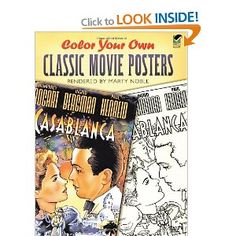 Color Your Own Classic Movie Posters: Amazon.ca: Marty Noble: Books