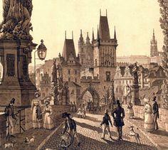 Vintage Architecture, Ancient Architecture, Old Pictures, Old Photos, Prague Travel, Fantasy City, Mystery Novels, Czech Republic, Time Travel