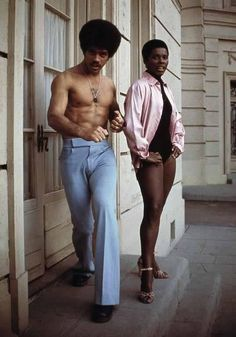 Jim Kelly with actress Gloria Hendry looking cooler than the other side of the pillow in 1974