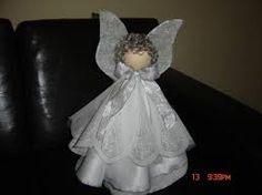 Resultado de imagem para anjinho feito de cone de linha