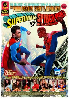 Superman vs Spiderman Porn Parody... always thought there was something fishy about superman & spiderman...