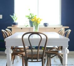 How To: Paint A Dining Room Table with Oil Based Paint