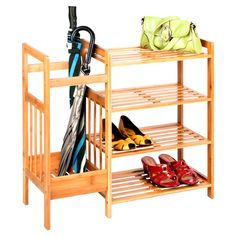Jones Bamboo Entryway Organizer...something cheap/easy like this for the garage would work