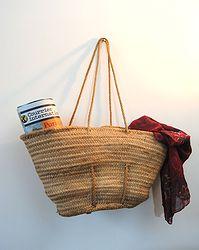 Cabas / Panier / Sac artisanal en osier