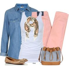 Blue and Pink Denim
