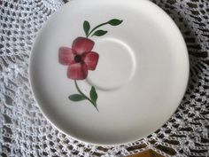 Blue Ridge Southern Pottery saucer by ContemporaryVintage on Etsy, $3.00