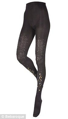 """You can find something very like this for under $30 in U.S. costume, lingerie, or Halloween catalogs.  """"Bebaroque's sparkly Lavender Lux tights."""""""