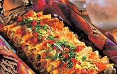 Fiesta Beef Enchiladas - The family loved Grandma's wonderful enchiladas so much, she always doubled the recipe.