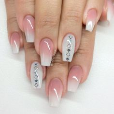 Soft and Feminine Designs for Pink and White Nails Every Girl Will Secretly Adore ★ See more: https://naildesignsjournal.com/pink-and-white-nails/ #nails #SummerNails