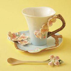 Two's Company Cherry Blossom Tea Set