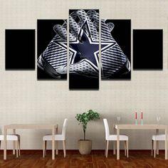 Dallas Cowboys NFL Football 5 Panel Canvas Wall Art Home Decor