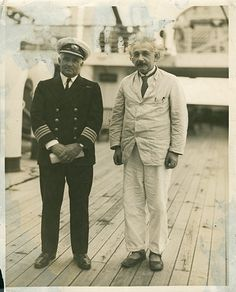 Credit: Courtesy of the Red Star Line Museum Albert Einstein with the captain of the Belgenland II, 1930The physicist ...