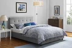 Rose Linen Upholstered Bed, Grey, Multiple Sizes - Walmart.com