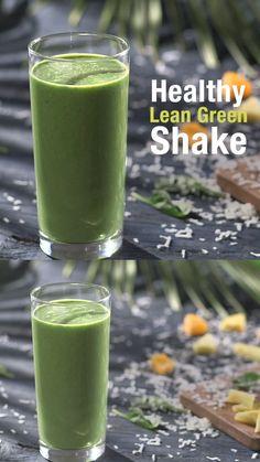 Healthy Juice Recipes, Fruit Smoothie Recipes, Protein Shake Recipes, Healthy Juices, Smoothie Drinks, Healthy Smoothies, Healthy Drinks, Spinach Smoothie Recipes, Green Tea Smoothie
