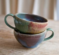 @Edie Stephenson You like? Set of two soup mugs-. $48.00, via Etsy. by ChirstineRHP (LSG)