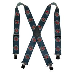 CTM Mens Elastic US Marine Corps Clip End Suspenders (Tall Available)