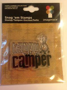 NEW   Imaginisce Brand  Happy Camper by CynthiasCraftingNook, $2.00