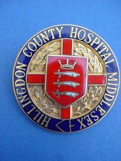 Hillingdon County Hospital Nurses badge