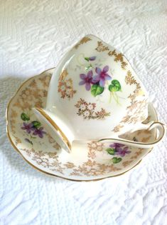 Vintage Fine Bone China Tea Cup and Saucer/Made by MariasFarmhouse, $65.00