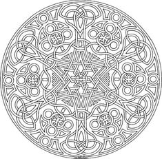 Difficult Coloring Pages For Adults | Geometric coloring pages for adults