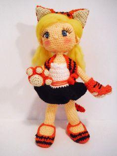 Мои станут мягкими Amigurumis: Кукла Тигр amigurumi