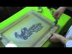 ▶ Screen Printing - 2012 - #SERIGRAFÍA proceso completo desde la preparación de la pantalla serigráfica hasta la estampación
