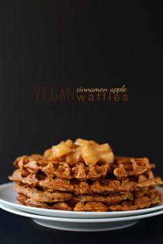 Vegan Cinnamon Apple Waffles