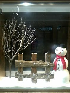 Looking at The Time Place Christmas window display is like viewing a beautiful Christmas card from special one or best friend. It sh. Diy Christmas Window Displays, Winter Window Display, Store Window Displays, Retail Displays, Shop Displays, Merchandising Displays, Holiday Store, Christmas Store, Christmas Diy