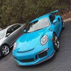 "CarsRevealed ™ on Instagram: ""Porsche 991 GT3 RS in baby blue  #CarsRevealed  _____________________________________________  Follow @carsrevealed …"""