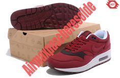 IACC 2426772 2014 Homme Chaussure Nike Air Max 1 Rouge Blanc