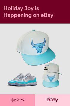 1c583510f49 Mitchell   Ness Chicago Bulls Snapback Hat Air Jordan 11 low UNC Powder  Blue Cap