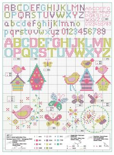 ru / Фото - The Ultimate Alphabets Cross Stitch Collection 2014 - tymannost Cross Stitch Letters, Cross Stitch Boards, Cross Stitch Art, Cross Stitch Samplers, Cross Stitching, Cross Stitch Embroidery, Plastic Canvas Letters, Cross Stitch Collection, Dmc