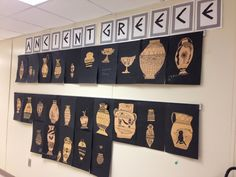 Hallway bulletin board display when studying Ancient Greece!