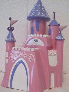 Disney Princess Resin Pink Purple Toothbrush Holder