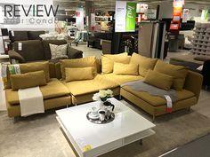 SÖDERHAMN Three-seat sofa and chaise longue, Samsta dark grey - Google Search
