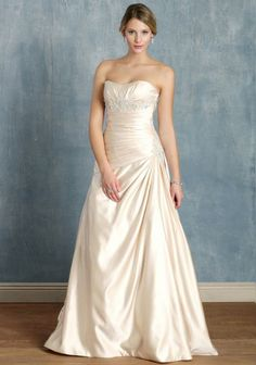 Victoria Wedding Gown | Champagne Bridal Dresses And Champagne Wedding Dresses At ShopRuche.com