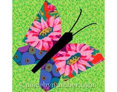 Mariposa & Firefly edredón bloque patrones por PieceByNumberQuilts
