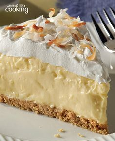 Easy Coconut Cream Pie #recipe