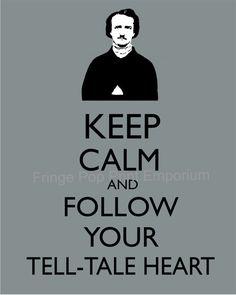 Keep Calm Edgar Allan Poe Art Print 8 x 10 Keep Calm by fringepop