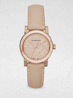 Burberry Rose Goldtone Stainless Steel Watch on shopstyle.com