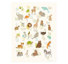ROMANIAN abc art for kids, Alphabet Wall art, Romania art for kids, nursery wall decor, animal ABC