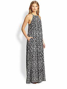 10 Crosby Derek Lam Printed Cotton Maxi Dress