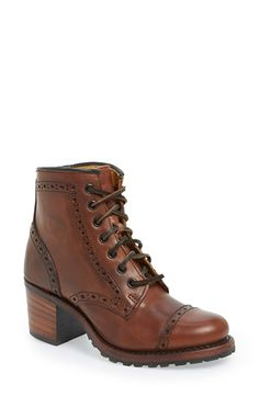 Frye 'Sabrina Brogue' Bootie (Women) available at #Nordstrom